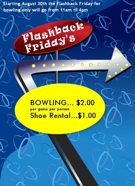 Flash Back Fridays @ Tiki Lans - Starting August 30th, Bowling $2.00 from 11am to 4pm